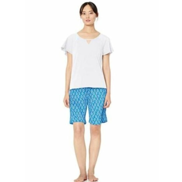 Karen Neuburger Womens Pajama Lounge Top Short Sleeve T-Shirt Pj Pajama Top
